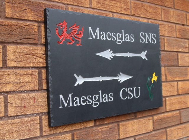 Welsh Slate House Sign - 400mm x 600mm x 20mm